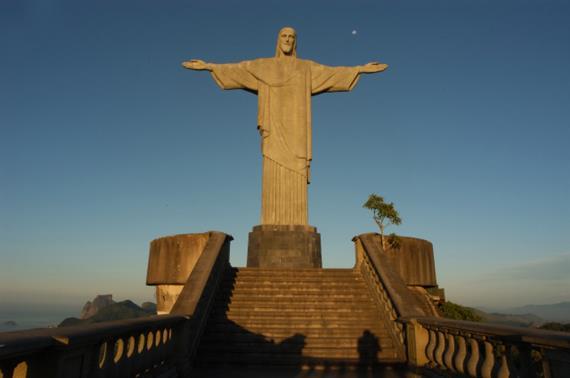 Christusstatue Auf Dem Corcovado Rio De Janeiro